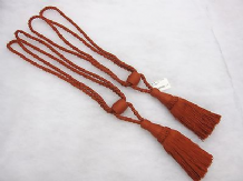 2 Terracotta brick red curtain tassel tie backs Traditional rope tassle tiebacks